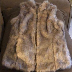 Girl fur vest